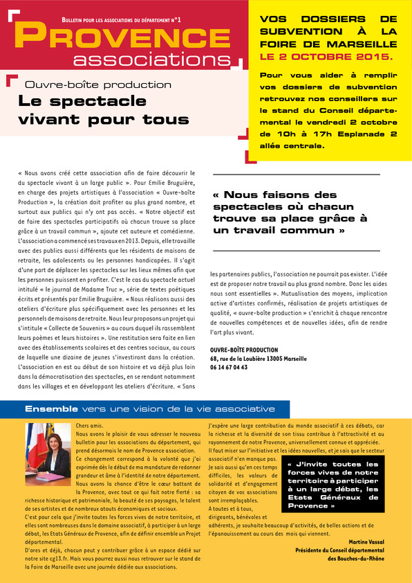 Provence Associations n°1